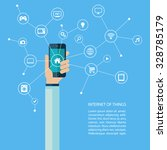 internet of things concept with ... | Shutterstock .eps vector #328785179
