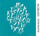 hand drawn alphabet written... | Shutterstock .eps vector #328788734