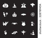 Vector White Halloween Icon Set ...