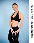healthy woman taking her body... | Shutterstock . vector #32879575