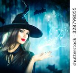 Halloween Witch With A Magic I...