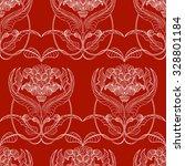 geometric pattern of flowers ... | Shutterstock .eps vector #328801184