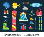 Winter Sport Vector Icons Set....