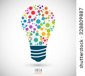 bulb icon with colored... | Shutterstock .eps vector #328809887