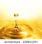 Bright Dripping Oil Close Up A...