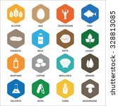 allergen icons vector set. | Shutterstock .eps vector #328813085