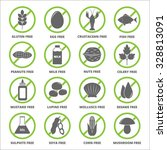allergen icons vector set. | Shutterstock .eps vector #328813091