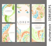 set of vector design templates. ... | Shutterstock .eps vector #328818191