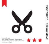 vector scissors | Shutterstock .eps vector #328823051