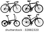 set of detailed generic bicycle ... | Shutterstock . vector #32882320