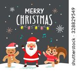 funny christmas card and poster ... | Shutterstock .eps vector #328829549