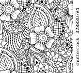 seamless black and white... | Shutterstock .eps vector #328830761