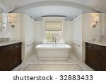 master bath in luxury home with ... | Shutterstock . vector #32883433