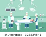 surgeons in operation theater.... | Shutterstock .eps vector #328834541