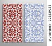 vertical seamless floral... | Shutterstock .eps vector #328839155