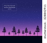 Illustration Of Night Starry...