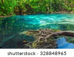 jungle blue pool lagoon in... | Shutterstock . vector #328848965