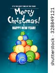 christmas greeting card with... | Shutterstock .eps vector #328849121