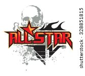 all star skull   Shutterstock .eps vector #328851815