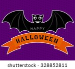 Vector Of Halloween Bat In Cut...