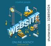 flat 3d isometric style website ... | Shutterstock .eps vector #328854524