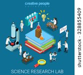 flat 3d isometric style science ... | Shutterstock .eps vector #328855409