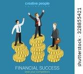 financial success flat 3d web... | Shutterstock .eps vector #328855421