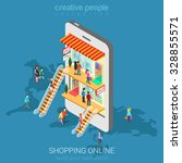 mobile shopping e commerce... | Shutterstock .eps vector #328855571