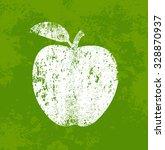 vector retro weathered apple... | Shutterstock .eps vector #328870937