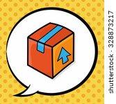 freight doodle  speech bubble | Shutterstock .eps vector #328873217