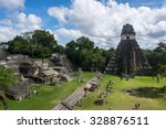 pyramid of tikal  one of mayan... | Shutterstock . vector #328876511