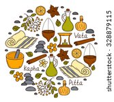 round ayurveda background in... | Shutterstock .eps vector #328879115