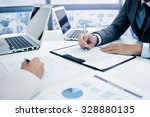 business people discussing the... | Shutterstock . vector #328880135