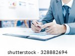 businessman analyzing... | Shutterstock . vector #328882694