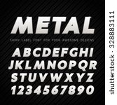 vector metal font on carbon... | Shutterstock .eps vector #328883111