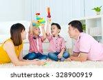 asian parent accompanied kids...   Shutterstock . vector #328900919