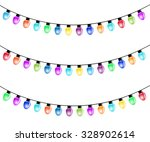 christmas light bulbs isolated... | Shutterstock .eps vector #328902614