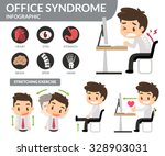 office syndrome infographic.... | Shutterstock .eps vector #328903031