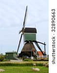 windmill in holland noordeloos | Shutterstock . vector #32890663