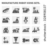 vector icon of robot or robotic ... | Shutterstock .eps vector #328908137