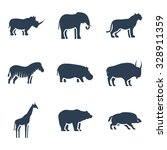 Wild Animals Icon. Vector...