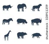 wild animals icon. vector...   Shutterstock .eps vector #328911359