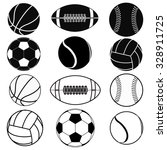 basketball ball  baseball ball  ... | Shutterstock . vector #328911725