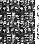 girls and women crowd   cartoon ...   Shutterstock .eps vector #328913099