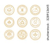 vector set of badges for...