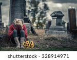 lonely crying young woman in... | Shutterstock . vector #328914971