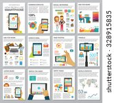 social media infographic set... | Shutterstock .eps vector #328915835