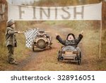 finish of competition between... | Shutterstock . vector #328916051