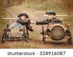 handshake of two boys racers on ...   Shutterstock . vector #328916087