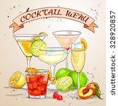 cocktail menu  excellent vector ... | Shutterstock .eps vector #328920857